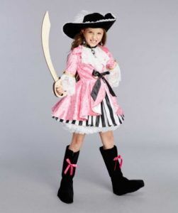 Pink Pirate Costume Girl