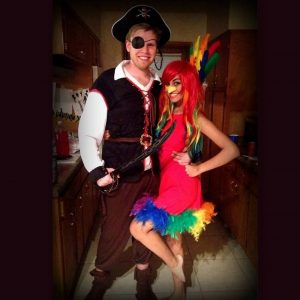 Pirate And Parrot Couple Costume