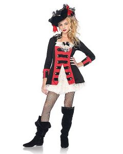 Pretty Pirate Captain Girl Costume
