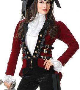 Red Pirate Coat Costume