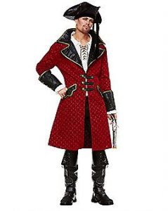Red Pirate Jacket Costume