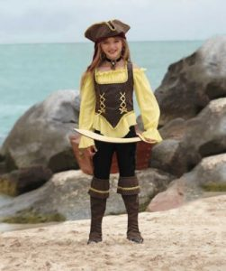 Rustic Pirate Girl Costume