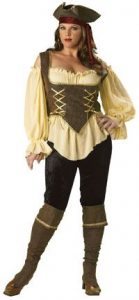 Rustic Pirate Lady Costume Plus Size