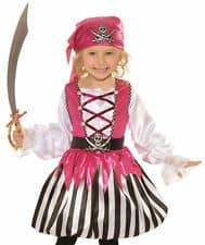 Toddler Girl Pirate Costume Pink