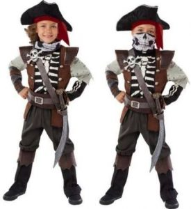 Toddler Skeleton Pirate Costume