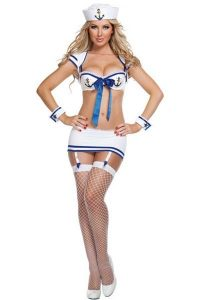White Sexy Sailor Custome