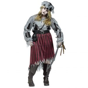 Zombie Pirate Costume Plus Size