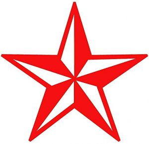 Large Nautical Star Decal