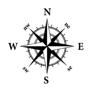 Nautical Compass Decal Fish