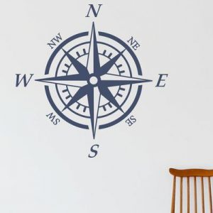 Nautical Compass Wall Decal