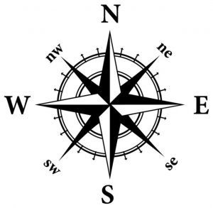 Nautical Decal Compass
