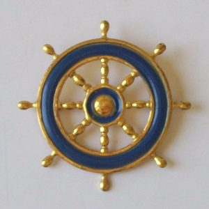 old nautical brooch