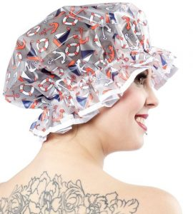 Vinyl Shower Cap Nautical